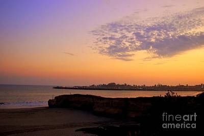 Sunset In Santa Cruz California  Art Print by Garnett  Jaeger
