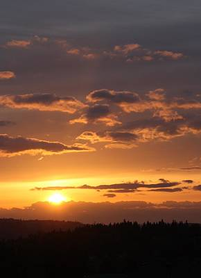 Photograph - Sunset In Seattle by Bruce Bley