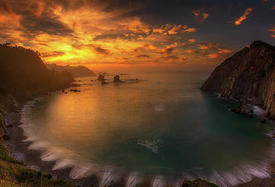 Bay Photograph - Sunset In Silence by Alfonso Maseda Varela