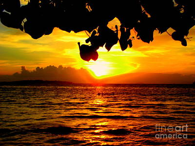 Painting - Sunset In Sorong by Jason Sentuf