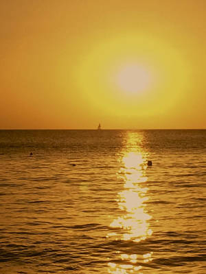 Photograph - Sunset In St Lucia 2 by John Colley