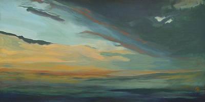 Modern Man Surf - Sunset in St. Petersburg by Carol Oufnac Mahan