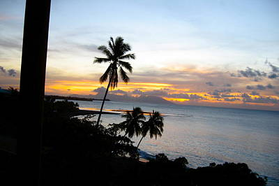Photograph - Sunset In Tahiti by Denise Mazzocco