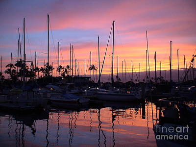 Sunset In The Ala Wai Art Print