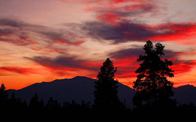 Photograph - Sunset In The Bitterroot Mountains by Ron Roberts