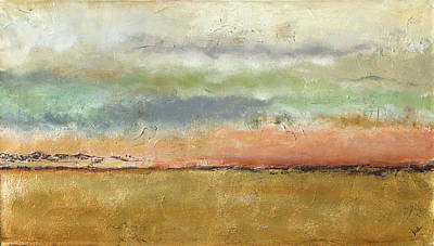 Cornfield Digital Art - Sunset In The Cornfield by Patricia Pinto