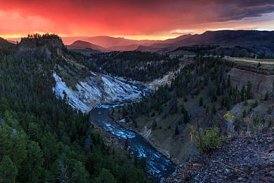 Sunset In The Greater Yellowstone Art Print