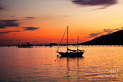 Sunset In The Harbor Art Print