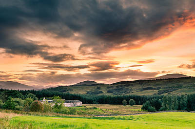 Science Tees Rights Managed Images - Sunset in the Highlands Royalty-Free Image by David Head