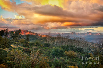Reflected Light Photograph - Sunset In The Mountains by Jennifer Magallon