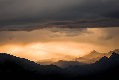 Photograph - Sunset In The Mountains by Nila Newsom