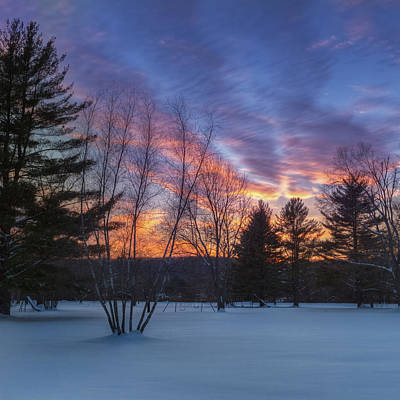 Connecticut Landscape Photograph - Sunset In The Park Square by Bill Wakeley