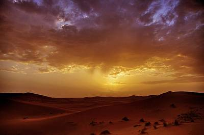 Landscape Photograph - Sunset In The Sahara by Tom Maimran