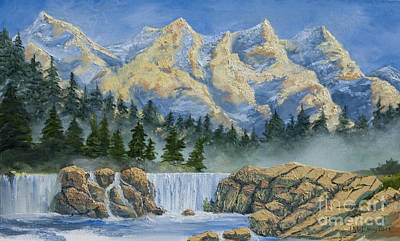 Colorado Mountain Stream Painting - Sunset In The San Juans by Jerry McElroy