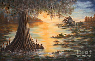 Sunset In The Swamp Original by Ruth Bares