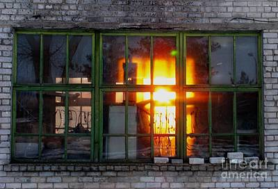 Photograph - Sunset In The Window by Ausra Huntington nee Paulauskaite