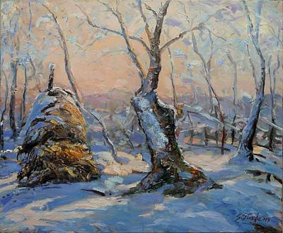 Painting - Sunset In The Winter by Sefedin Stafa