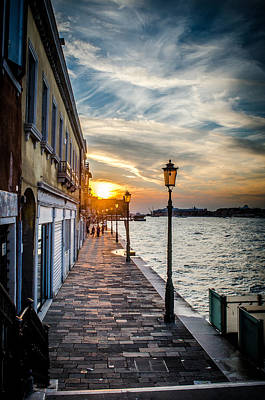 Sunset In Venice Art Print by Stefan Hoareau