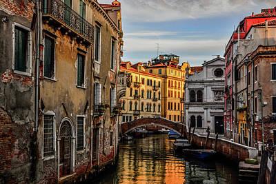 Photograph - Sunset In Venice by Sylvia Cavanagh Photography