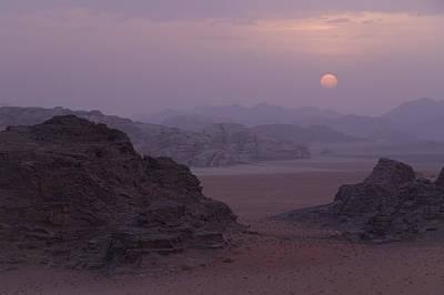 Sunset In Wadi Rum Jordan Art Print by Alison Buttigieg