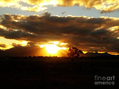 Sunset In Worcerster Print by Willinda Swart