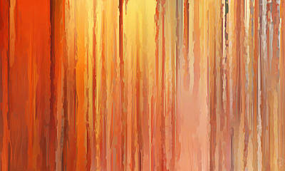 Sunset Abstract Painting - Sunset Infinity by Lourry Legarde
