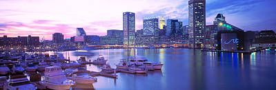 Baltimore Md Photograph - Sunset, Inner Harbor, Baltimore by Panoramic Images