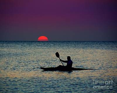 Photograph - Sunset Kayak by Patrick Witz