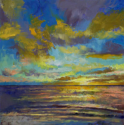 Sunset Abstract Painting - Sunset Key Largo by Michael Creese