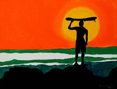 Painting - Sunset by Khryztof