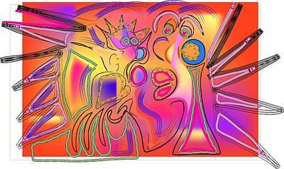 Smooch Digital Art - Sunset Kiss by Andy Cordan