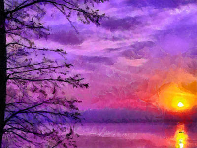Sunset Lake Print by Anthony Caruso