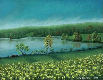 Pastel - Sunset Lake C by Michael Heikkinen