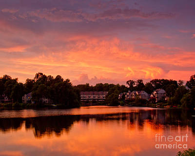 Photograph - Sunset Lake by Dale Nelson