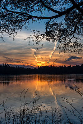 Sunset Lake Horicon Lakehurst New Jersey Art Print by Terry DeLuco