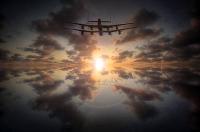 Canadian Heritage Photograph - Sunset Lancasters  by Jason Green