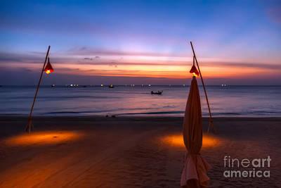 Sunset Lanta Island  Art Print by Adrian Evans
