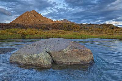 Sunset Light Hitting Angelcomb Peak And Art Print by Robert Postma