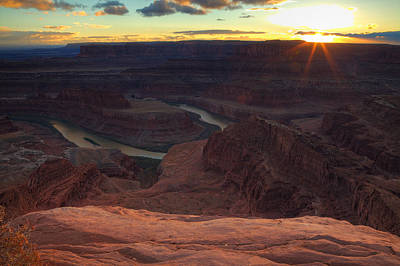 Photograph - Sunset Light On At Dead Horse Point  by Alan Vance Ley