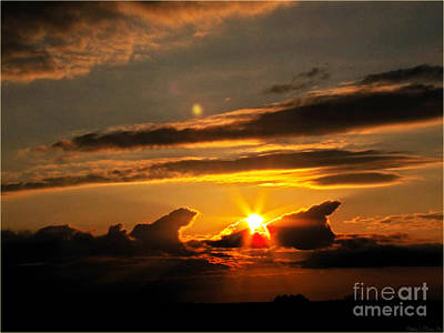 Photograph - Sunset Light Show II by Debbie Portwood