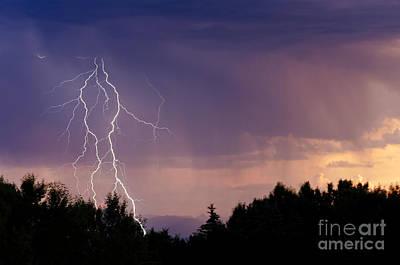 Sunset Lightning Art Print