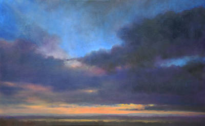 Cape Cod Painting - Sunset by Linda Puiatti