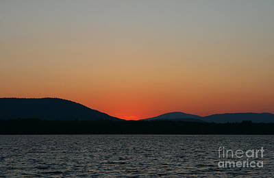 Photograph - Sunset Lines Of Lake Umbagog  by Neal Eslinger