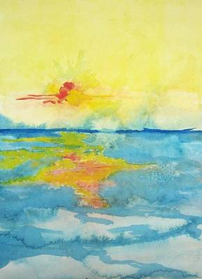 Painting - Sunrise by Liz Adkinson