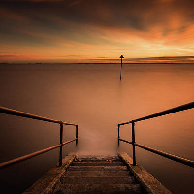 Photograph - Sunset Long Exposure by Scott Baldock