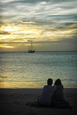 Photograph - Sunset Love At The Beach by Gary Slawsky
