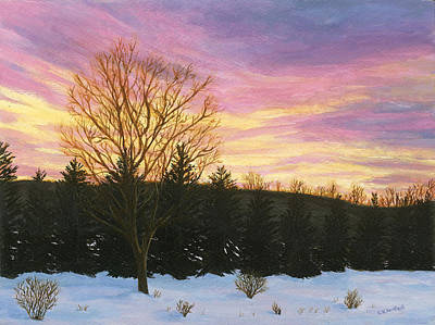 Painting - Sunset by Lucinda V VanVleck