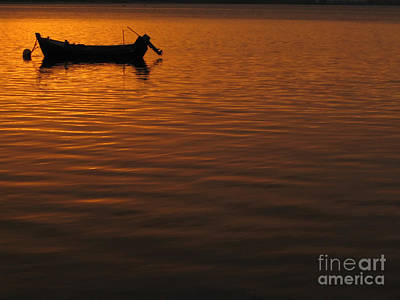 Small Boat Photograph - Sunset by Jose Elias - Sofia Pereira