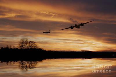 Sunset Marauders  Art Print by J Biggadike