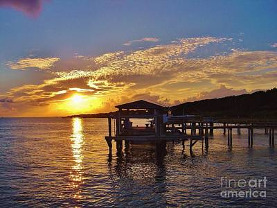 Sunset At Morehead City Nc Art Print by Marilyn Carlyle Greiner
